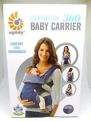 Ergobaby Four Position 360 Baby Carrier Dusty Blue NEW!!