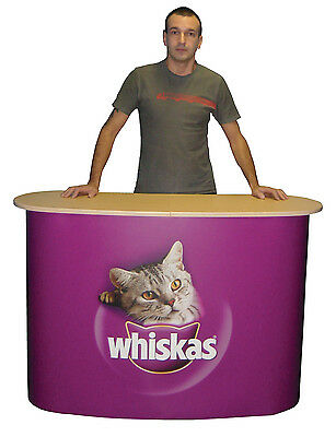 Premium Promo Table Trade Show Portable Pop Up Counter Kiosk + FREE PRINTED WRAP