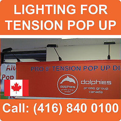 LOT OF 6 - NEW Spot Lights Tradeshow Booth Lighting for TENSION Pop Up Displays