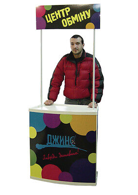 Trade Show Counter Portable Booth Kiosk Reception Sampling Table + FREE GRAPHICS