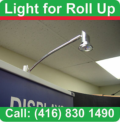 SPOT HALOGEN LIGHT for Retractable Banner RollUp Stand