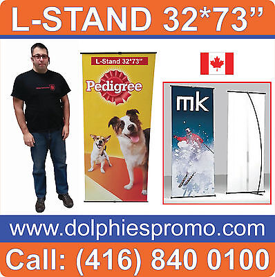 NEW L-Stand Pop Up Graphic Display Trade Show Banner Stand HARDWARE + BAG ONLY