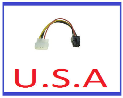 4 to 6 Pin Power Adapter/Converter/Molex/PCI-E/Express Card/Video/Cable/PC/B-42