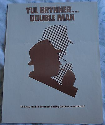 THE DOUBLE MAN (vintage 1967 newspaper-style herald) near mint condition