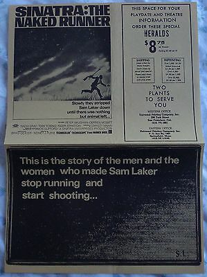 THE NAKED RUNNER (vintage 1967 newspaper-style herald) mint condition