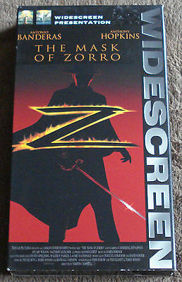 THE MASK OF ZORRO (vhs/widescreen edition/dolby stereo/original box)