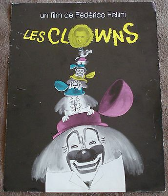 THE CLOWNS (vintage 1971 2-page french ad)