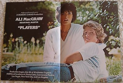 PLAYERS (vintage 1979 2-page ad) mint condition