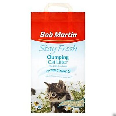 Bob Martin Stay Fresh Clumping Antibacterial Cat Litter -Baby Soft Scent 10L