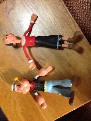 Popeye and Olive Oyl bendable figures dolls characters 1993