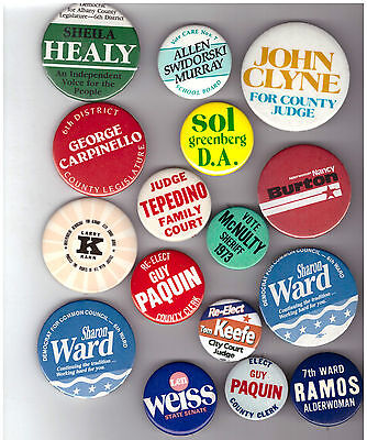 Collection 16 Albany Ny Campaign Pins Burton Keefe Weiss Ward Healy Clyne Kahn
