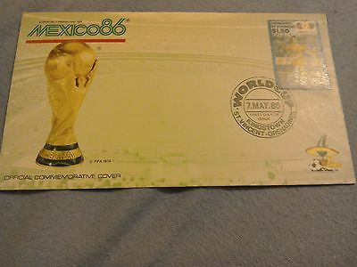 rare official mexico 1986 world cup commemorative first day cover