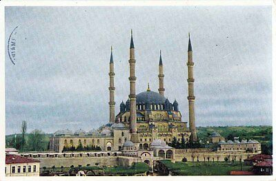 Turkey Edirne, Selimiye Mosque, Islam, Stamps On Back