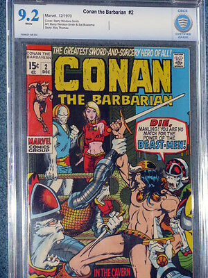 Conan the Barbarian #2  CBCS(CGC) 9.2 White Pages-!