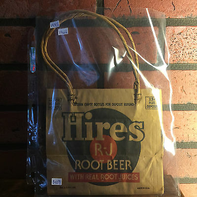 Ultra RARE ~ Vintage 1930's / 1940's Hires Root Beer Bag 6x 12oz Bottle MINT!