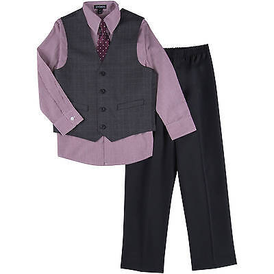 NWT George Boy's Size 4 4pc Windowpane Special Occasion Suit Holiday