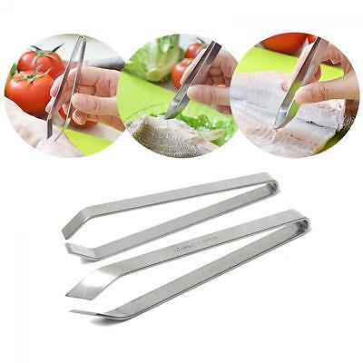 Chef Home Kitchen Tool Remover Fish Bone Tweezers Stainless Steel Puller