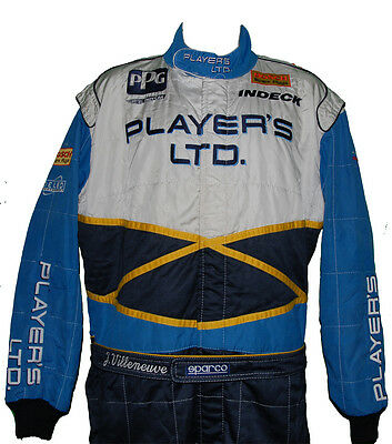 Jacques Villeneuve Rare 1996 Indy 500 Player's Crew Suit Not F1