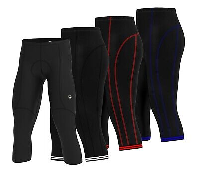 Men Cycling Running Tights Shorts 3/4 Length Pants Compression Shorts