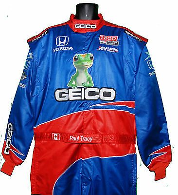 Paul Tracy Rare 2011 Indy 500 Geico Crew Suit With Paul's Name On Belt Not F1