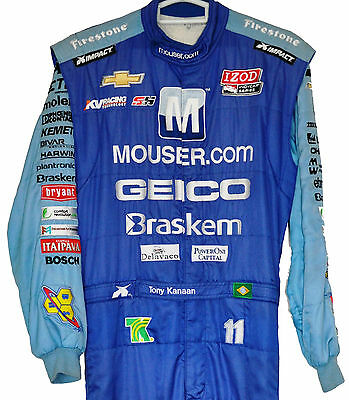 Tony Kanaan Irl Geico Indy Crew Suit Colourful Xxl With His Name On Belt Not F1