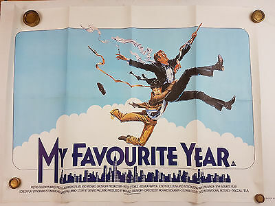 MY FAVOURITE YEAR 1982 ORIGINAL UK MOVIE QUAD POSTER Peter O'Toole