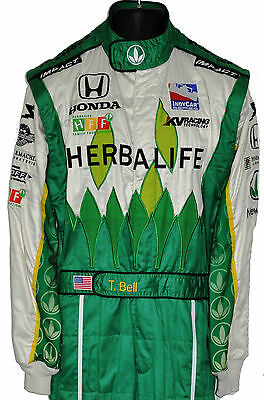 Townsend Bell Rare Indy 500 Herbalife Crew Suit With His Name On Belt Not F1
