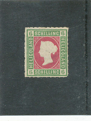 Heligoland QV 1867 6sch green & rose SG4 MM