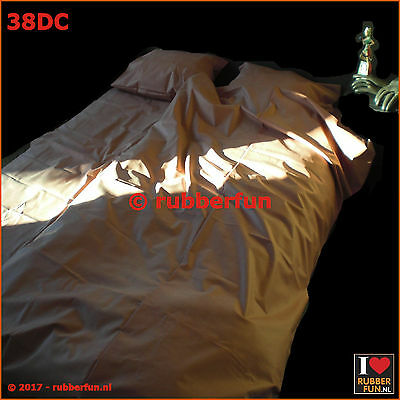 Duvet cover - clinical red rubber - mackintosh rubber - rubber bed