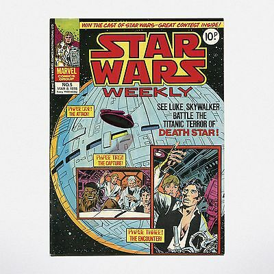 STAR WARS WEEKLY - No. 5 ( UK / 1978 ) ***VERY GOOD CONDITION***