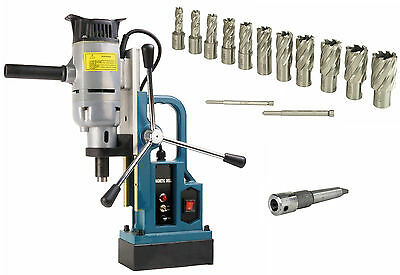 """Steel Dragon Tools MD103 Magnetic Drill Press with 13PC Small 1"""" Annular Cutters"""