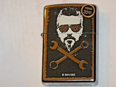 New Gas Monkey Face Garage Open End Wrench 2015 GMG ZIPPO USA Windproof LIGHTER