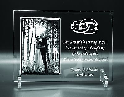 Personalised Love Anniversary Wedding Day Gift Idea Photo Frame Engraved 4 x 6