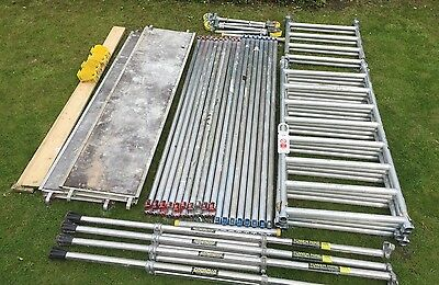 6.2M Working Height Boss Youngman Aluminium Clima Scaffold Tower Fully Complete