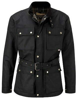 Speedwear Classic Wax Cotton Vintage Style Motorcycle Jacket