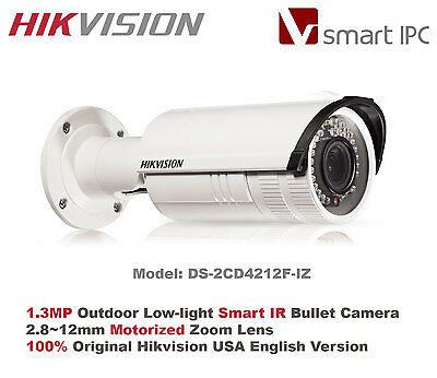 Hikvision USA -DS-2CD2612F-I/1.3MP/720P Outdoor IR IP Camera/2.7~12 VF Lens/PoE