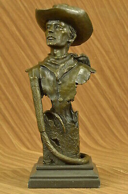 Handmade bronze sculpture Wes Old Bill Buffalo Edition Collector Signed DB