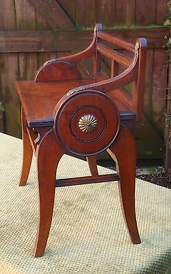Antique Victorian James Shoolbred & Co Mahogany Hall Stool Chair Bench C.1890.