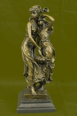 Auguste Moreau Mother Love Bronze Sculpture Art Deco Marble Base Figurine Figure