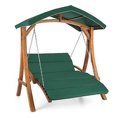 Garden Swing Seat Chair 2 Seater Sun Shade Patio Outdoor Furniture Wood Terrace