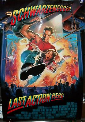 Original Last Action Hero 27 X 40 Double Sided Theater Movie Poster 1993