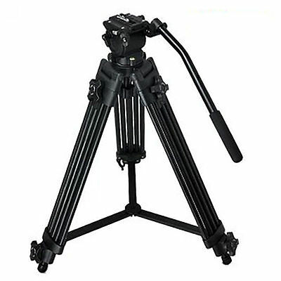 "52"" Camera DSLR Camcorder Tripod Support Stand Video Fluid Drag Pan Head Kit"