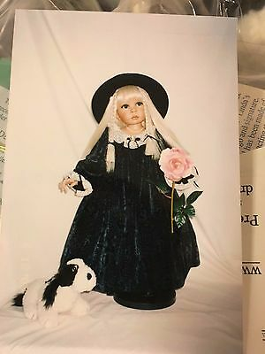 Master Piece Gallery Porcelain doll Delaney  Rare 32'' tall