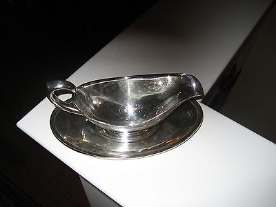 Gorham Silver Gravy Boat With Underplate Attached