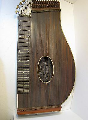 Antique Heinrich Stadlmair Bayern Wood Zither, Original Label autoharp lapharp