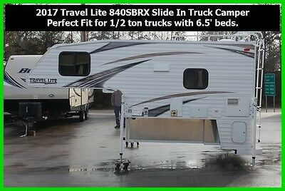 2017 Travel Lite 840SBR Slide In Truck Camper 1/2 Ton 6.5' Beds New Towable RV