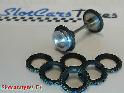 SCALEXTRIC -8 rear or front tires for side car Typhoon - CA