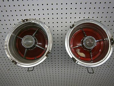 1963 Ford Galaxie Tail Light Assemblies Lh And Rh With Reverse Lights Oem