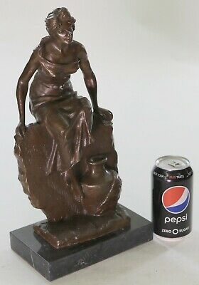 Signed Emmanuel Villanis Bronze Sculpture of Strong Sensuous Standing Female LRG