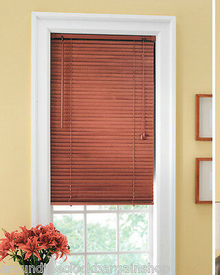 """Traditional Wood Window Blinds 25"""" x 40"""" -Cherry"""
